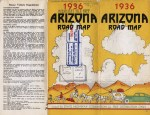 Arizona State Highway Commission Road Map,  1936.