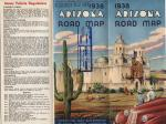 Arizona State Highway Commission Road Map,  1938.