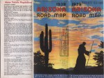 Arizona State Highway Commission Road Map,  1939.