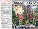 Arizona State Highway Commission Road Map,  1942.